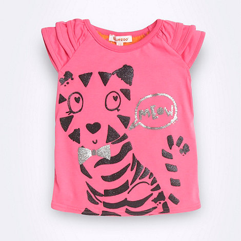 bluezoo - Girl+s pink tiger t-shirt