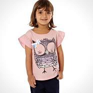 Girl's pink owl top