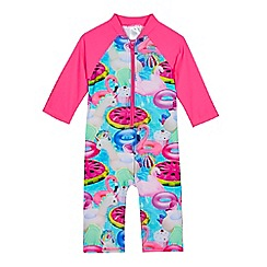 bluezoo - Girls' multi-coloured pool inflatables print sunsafe