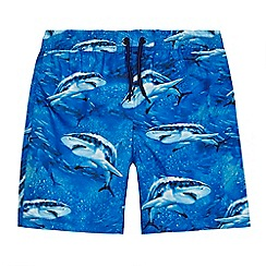 bluezoo - Boys' blue shark print swim shorts