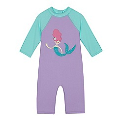 bluezoo - Girls' lilac mermaid embroidered sunsafe