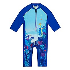 Baker by Ted Baker - Boys' blue jungle print applique swimsuit