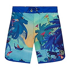 Baker by Ted Baker - Boys' blue jungle print swim shorts