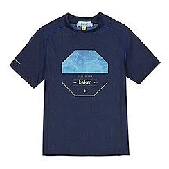Baker by Ted Baker - Boys' navy 'Ocean Explorer' logo print rash vest