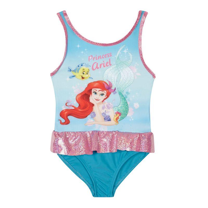 Disney - 'Girls' Multi-Coloured 'The Little Mermaid' Print Swimsuit