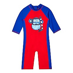 bluezoo - Boys' red monkey sun-safe swimsuit
