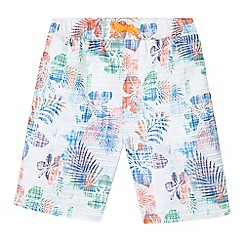 bluezoo - Boys' multi-coloured tropical leaf print shorts