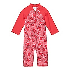 bluezoo - Girls' red starfish sun-safe swimsuit
