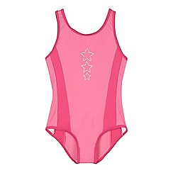 bluezoo - Girls' pink star detail swimsuit