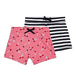 bluezoo - Girls' pack of two pink cherry print shorts