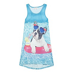 bluezoo - Girls' blue dog print dress