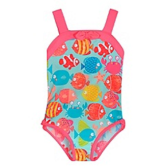 bluezoo - Girls' aqua fish print swimsuit