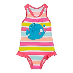 bluezoo - Girls' pink fish applique swimsuit