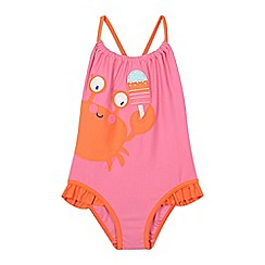 bluezoo - Pink crab applique swimsuit