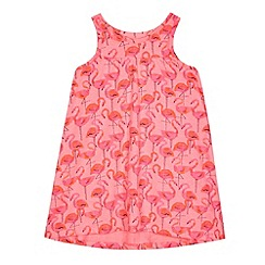 bluezoo - Girls' pink flamingo print dress