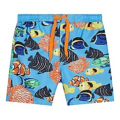 bluezoo - Boys' multi-coloured tropical fish print swim shorts
