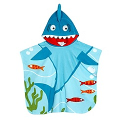bluezoo - Boys' blue shark poncho