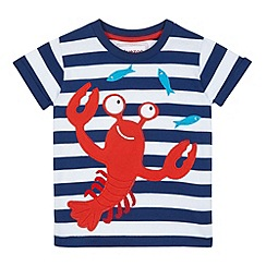 bluezoo - Boys' navy lobster applique t-shirt