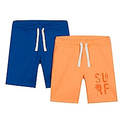bluezoo - Pack of two boys blue and orange shorts