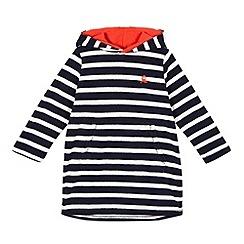 bluezoo - Boys' navy striped towelling hoodie