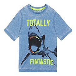 bluezoo - Boys' blue shark print t-shirt
