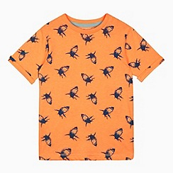bluezoo - Boys' orange shark print t-shirt