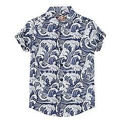 bluezoo - Boys' blue wave print shirt