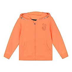 bluezoo - Boys' orange 'Surf' print hoodie