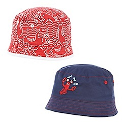 bluezoo - Pack of two red and navy lobster fisherman hat