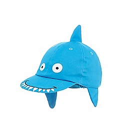 bluezoo - Boys' blue shark embroidered cap