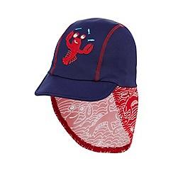 bluezoo - Boys' navy lobster applique keppi hat