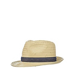 bluezoo - Boys' beige trilby hat