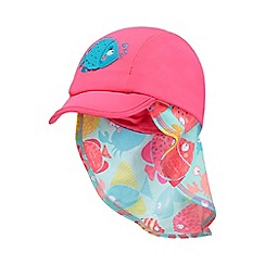 bluezoo - Girls' pink fish applique keppi hat