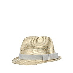 bluezoo - Girls' beige sequin trilby hat