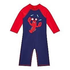 bluezoo - Boys' blue lobster print rasher suit