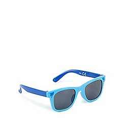 bluezoo - Boys' blue shark print sunglasses