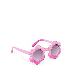 bluezoo - Girls' pink glittery flower sunglasses