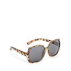 bluezoo - Girls' brown tortoiseshell print square frame sunglasses