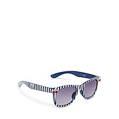 bluezoo - Girls' navy striped print cherry sunglasses