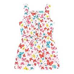bluezoo - Girls' multi-coloured butterfly print jumpsuit