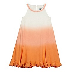 Mantaray - Girls' orange and white ombre-effect dress