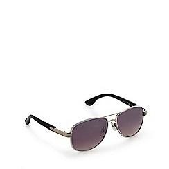Mantaray - White aviator sunglasses