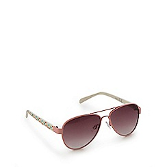Mantaray - Girls' pink aviator sunglasses