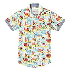 Mantaray - Boys' multi-coloured Hawaiian printed shirt