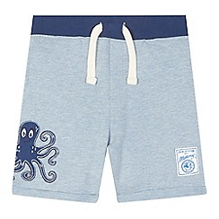 Mantaray - Boys' light blue octopus jersey shorts