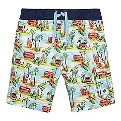 Mantaray - Boys' multi-coloured Hawaiian print swim shorts