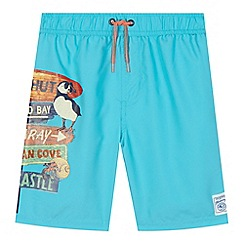 Mantaray - Boys' blue printed swim shorts