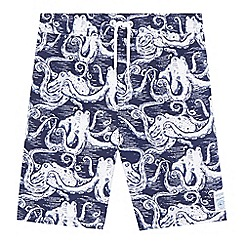 Mantaray - Boys' navy octopus print swim shorts