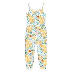 Mantaray - Girls' multi-coloured reef print jumpsuit