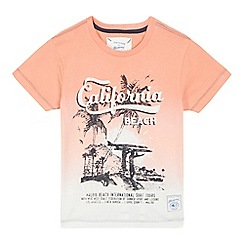 Mantaray - Boys' pink California beach print t-shirt